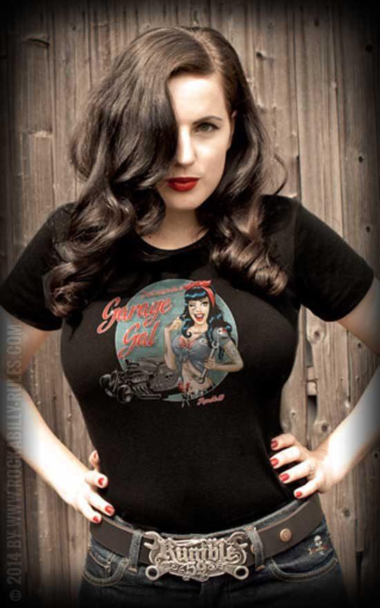 Garage Girl T-Shirt von Rumble59