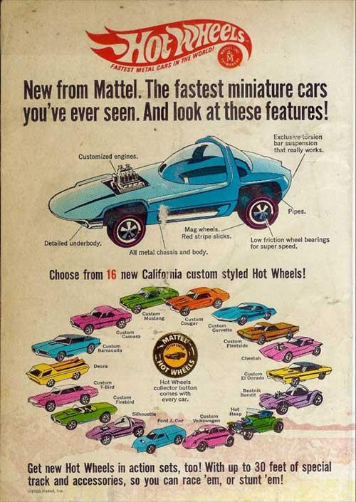 die 16 Erstgeborenen Hot Wheels von Mattel