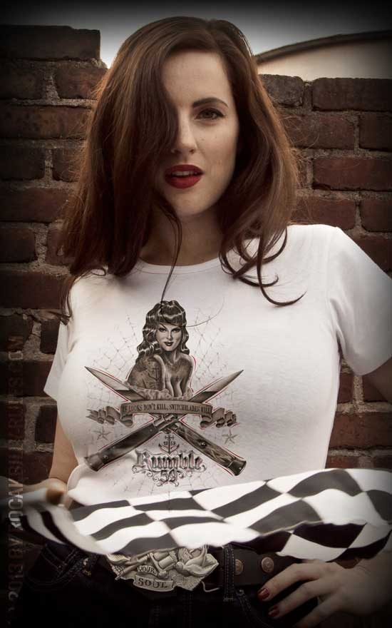 Rumble59 Ladies T-Shirt Switchblades