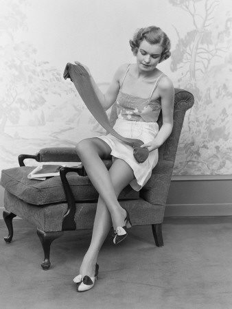Nylon stockings - 50s Strumphose