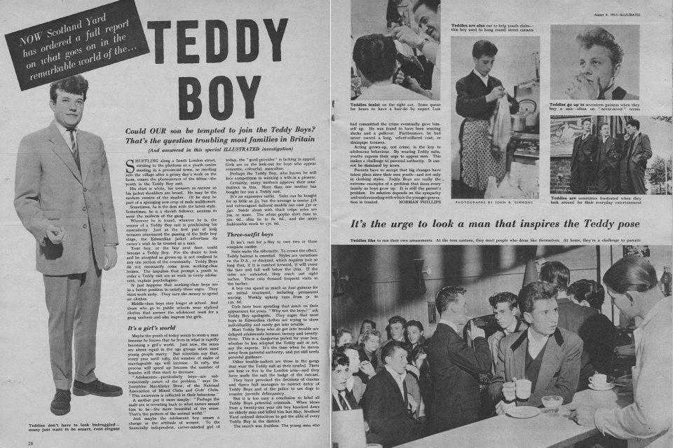 Illustraited TEDDY BOYS