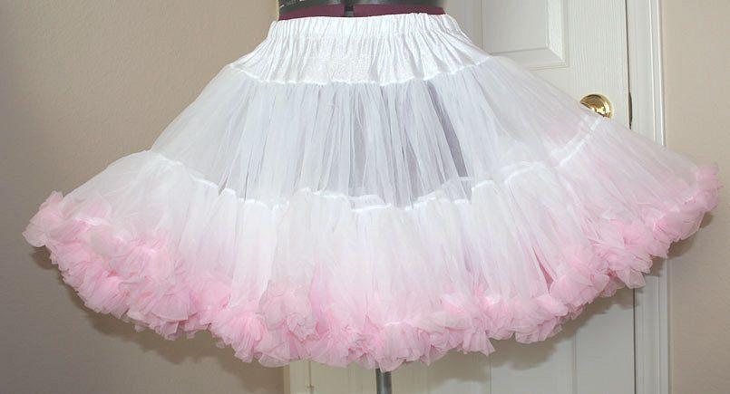 Petticoat in weiss und pink