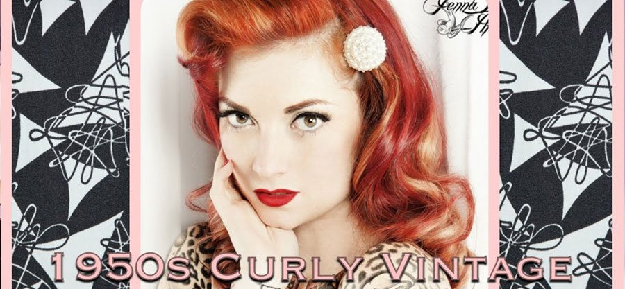 pin up frisuren verf hrerische 50s locken rockabilly. Black Bedroom Furniture Sets. Home Design Ideas
