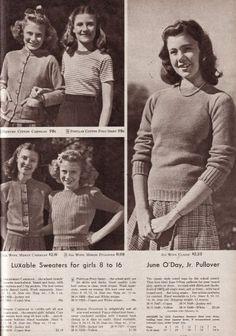 Typische Teenager Mode der 40er Jahre (C) wikimedia