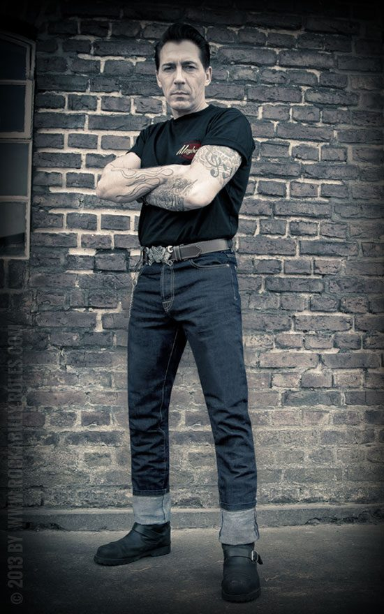 Raw Denim-blue jeans von Rumble59