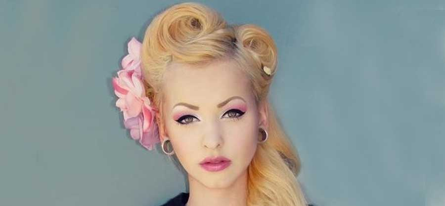 Vintage Haarstyling Victory Rolls So Gehts Rockabilly Rules