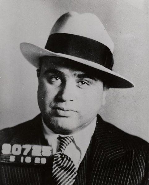 Al Capone in 1929 (c) Wikimedia