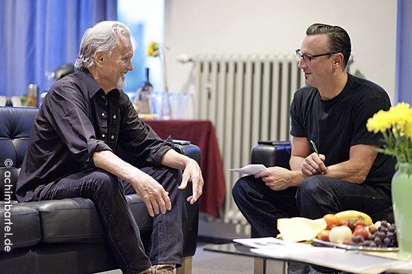Johnny Hellstorm mit Kris Kristofferson