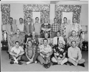 lossy-page1-740px-Photograph_of_President_Truman_with_members_of_his_official_party_(many_attired_in_Hawaiian_shirts),_on_vacation_in..._-_NARA_-_200549.tif