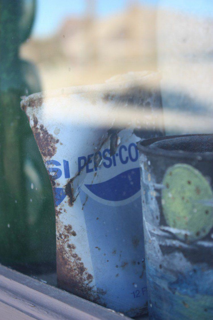 Alte Pepsidose in Rhyolite