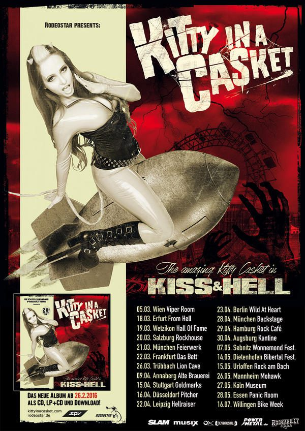 Kitty in a Casket Kiss and Hell Tour 2016 Tourposter