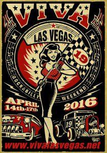 Viva Las Vegas #19 2016 flyer