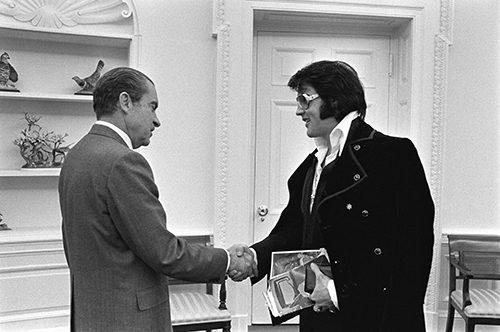 Elvis begrüßt Nixon