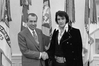 Elvis Presley und Richard Nixon