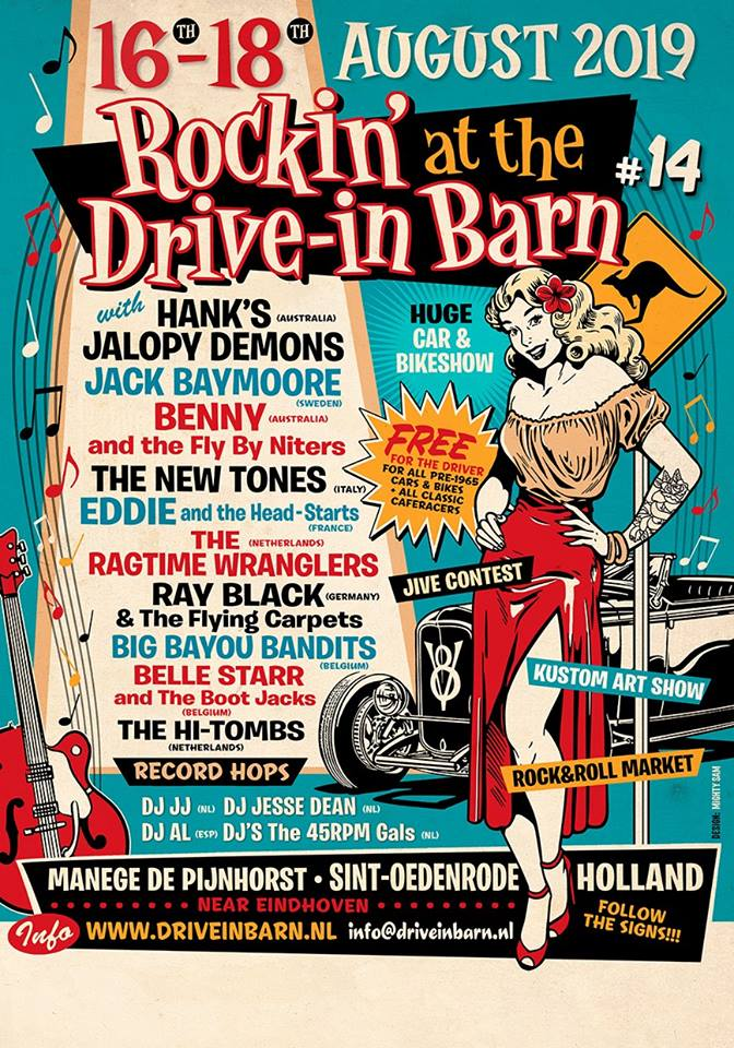 Rockin' at the Drive-in Barn 14 Flyer