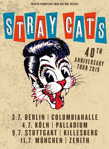 Stray Cats Deutschland Tourposter
