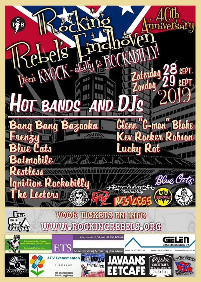 40 Years Rocking Rebels Eindhoven Flyer