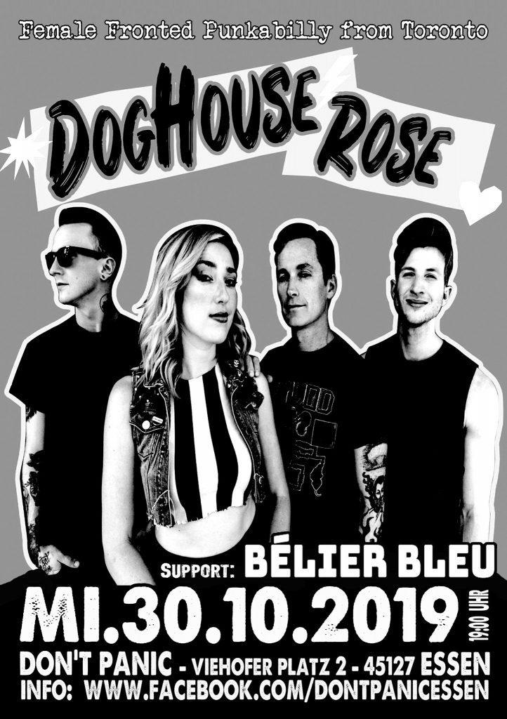 Flyer Doghouse Rose Konzert