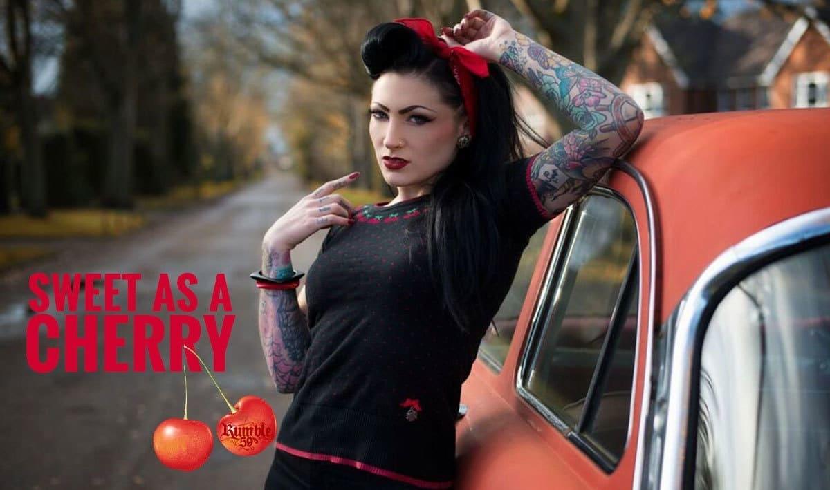 Rumble59 Ladies Pullover - Sweet Cherry