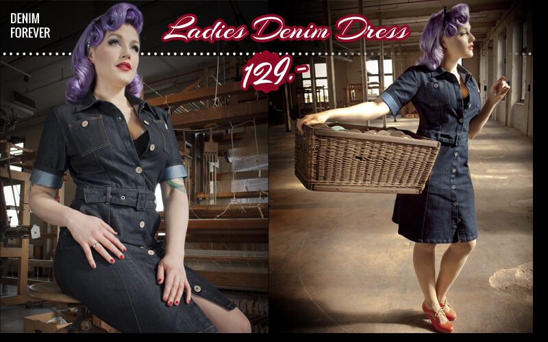 Rockabilly Jeans Kleid by Rumble59