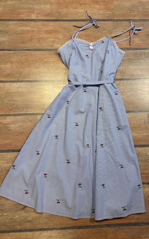 Last Chance - Very Cherry Summer Dress - Bonita Brodery Cherry