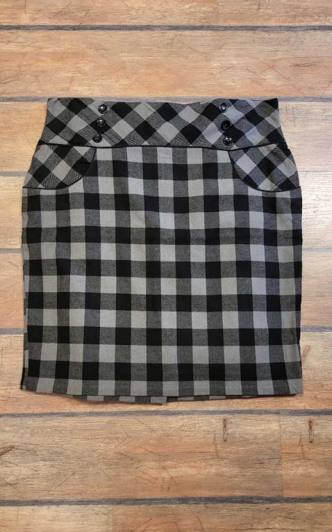 Last Chance - Rumble59 Ladies - High Waisted Pencil Skirt - plaid