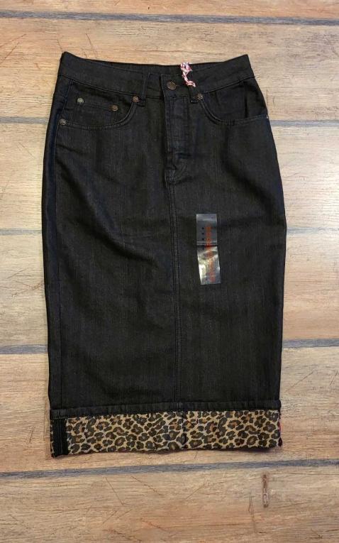 Letzte Chance - Rumble59 Ladies Denim - Perfect Pencil Skirt - schwarz