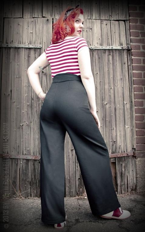 Ladies Marlenehose in schwarz - von Rumble59