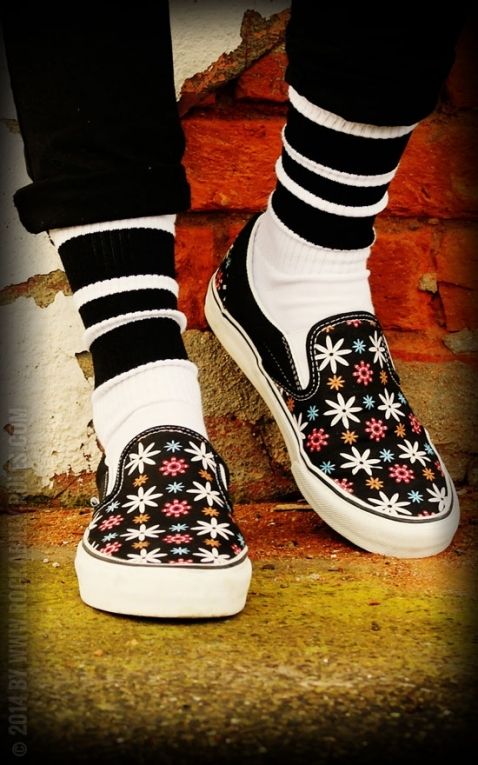 Lo Skatersocks HotRod Oldschoolsocks - The Blacks