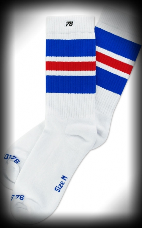 Lo Skatersocks HotRod Oldschoolsocks - Royal Reds