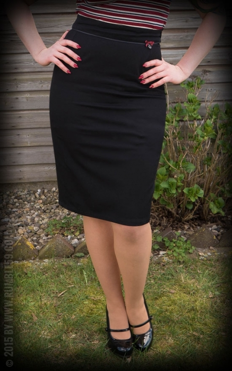 Rumble59 Ladies - Perfect Pencil Skirt - schwarz