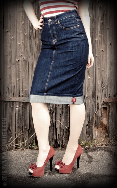 Rumble59 Ladies Denim - Perfect Pencil Skirt