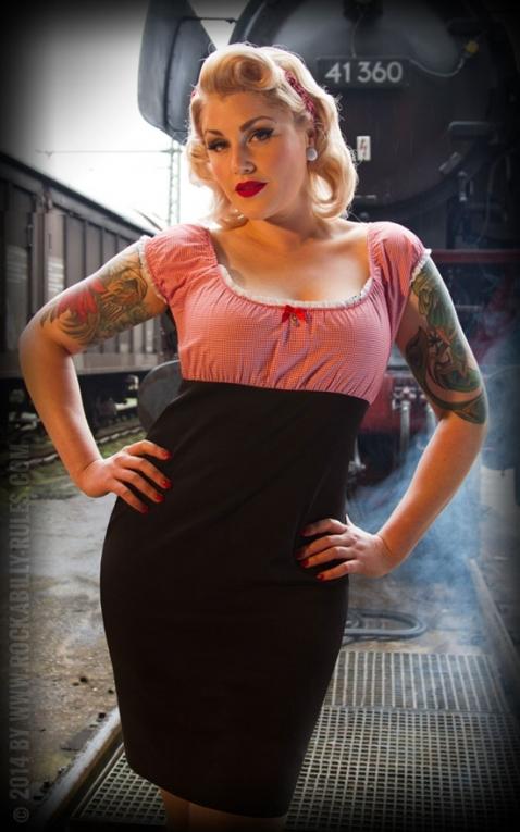 Rumble59 Ladies - Carmenkleid - Sweet Vichy