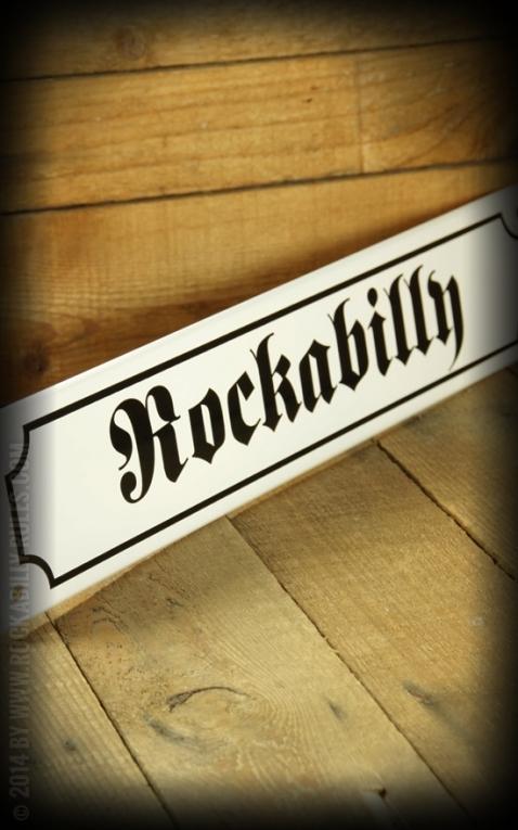 Straßenschild mit Email beschichtet - Rockabilly