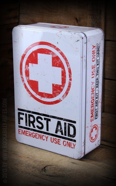 Storage tin shallow - First Aid