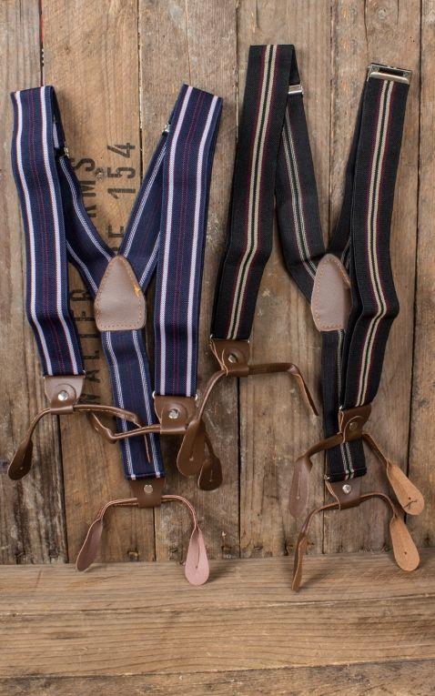 Suspenders various stripe designs