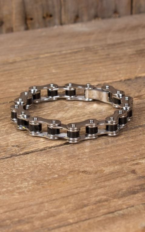 Stainless Steel Bracelet - Bike Chain, silver