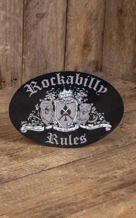 Aufkleber - Rockabilly Rules