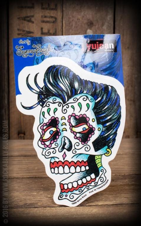 Sticker rockabilly sugar skull by sunny buick
