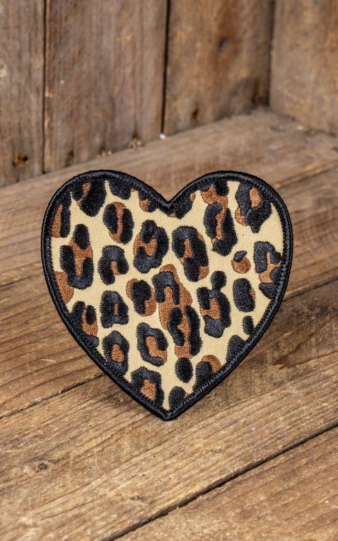 Sourpuss Clothing Aufnäher - Leopard Heart