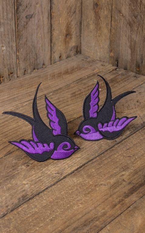 Patch - Oldschool swallow, purple black
