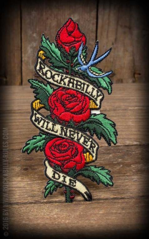 Aufnäher Rockabilly will never die