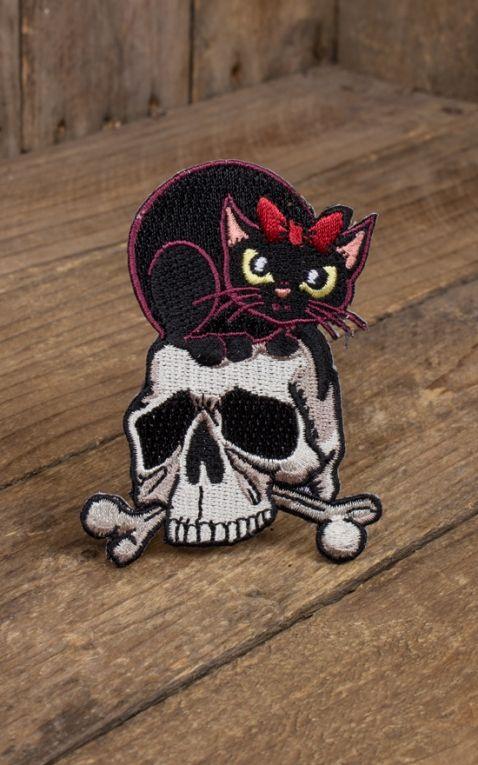 Aufnäher Skully Cat