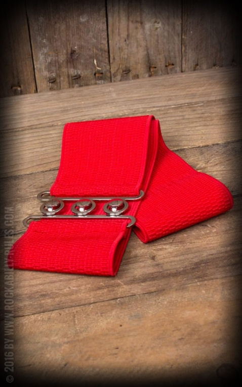 Banned Elastic Pin-Up belt, red