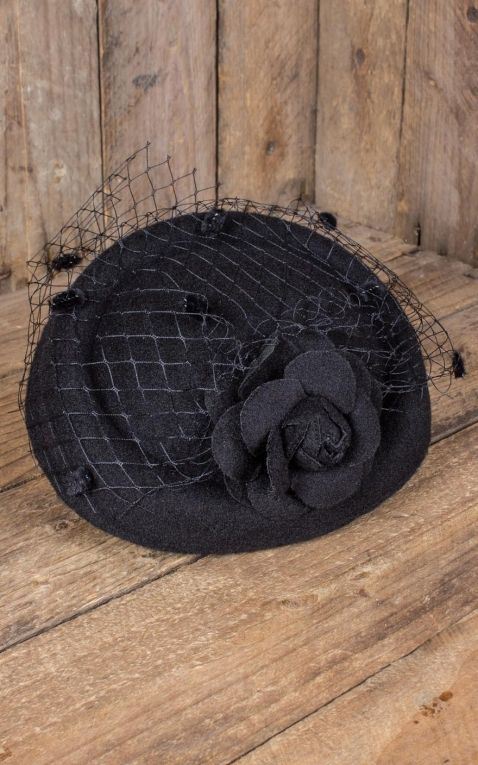 Banned Fascinator Marilyn, schwarz
