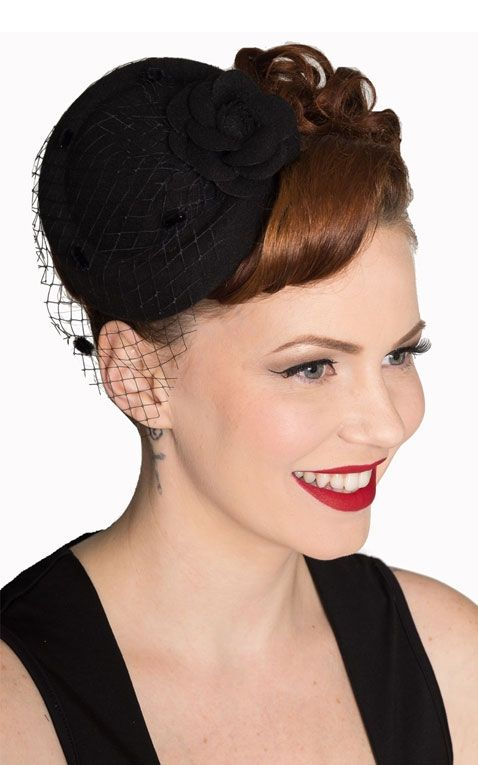 Banned Fascinator Marilyn, black