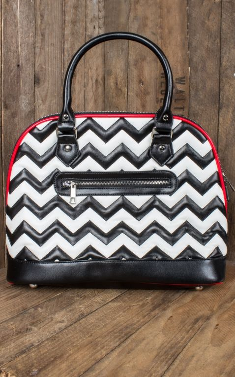 Banned Handtasche Chevron Stripe