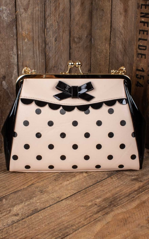 Banned Handbag Crazy Little Thing Polkadot, nude black