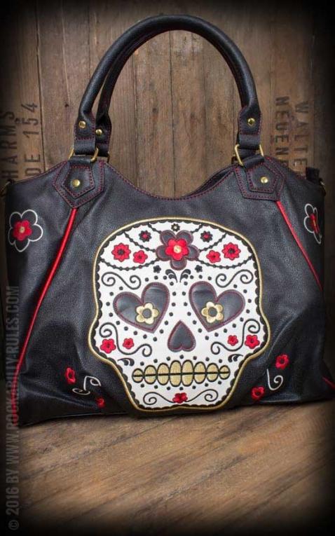 Banned Handbag - Sugar Skull