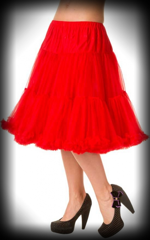 Petticoat long Rockabella - red